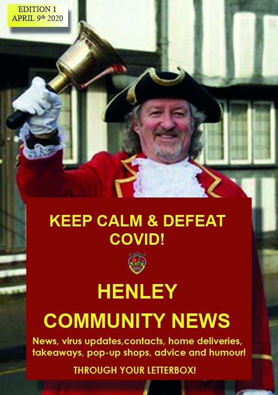 Henley Community News, Edition 1, April 9th 2020, full cover description below